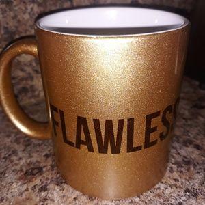 "Gold,,,coffee mugs, ""I woke up like this ""   and F"